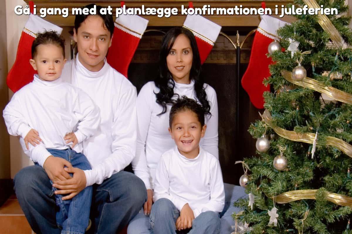 Gå i gang med at planlægge konfirmationen i juleferien